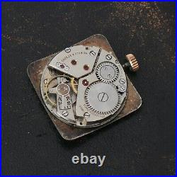 Vintage High Grade Credos Watch Movement with Dial Hands Running Parts Repairs