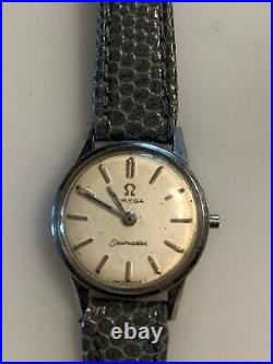 Vintage Ladies Omega Seamaster Watch Hand Winding for Parts or Repair