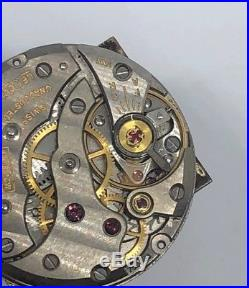 Vintage LeCoultre K 818/1CW 17 Jewels Wristwatch Movement Dial and Hands working
