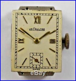 Vintage LeCoultre Rectangular Hand Wind Mechanic 17J Watch Movement lot. R