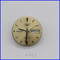 Vintage Longines Admiral Cal 507 moverment, dial, hands, for parts, running