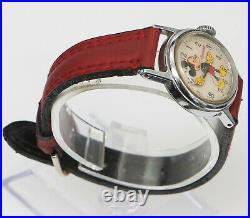 Vintage Mickey Mouse Ingersoll Hand Winding Ladies Watch For Parts or Repair