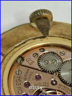 Vintage Omega Cal. 620 Ref. 111.003 FLORENTINE BEZEL Swiss Hand Winding For Parts