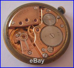 Vintage Omega movement Cal 267, hands & dial 33mm working