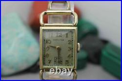 Vintage Original Hamilton Hand Wind 980 17j Gold Tone Wrist Watch Parts/Repair