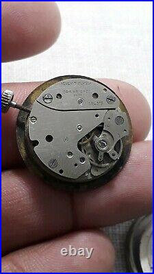 Vintage Oris -Pointer Date 1950 Hand Wending Movement And Back As A Parts