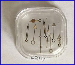 Vintage ROLEX GMT 1675 2x Tritium hands set + Open 6 Date Disc Package