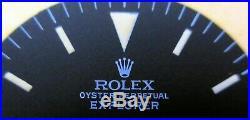 Vintage Rolex #1016 EXPLORER I Matte Black Repaired Dial + Hand-Set