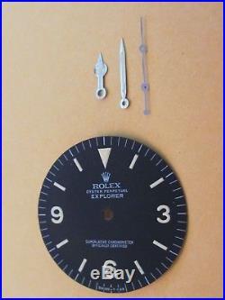 Vintage Rolex #1016 EXPLORER Matte Black Refinished Dial + Hand-Set