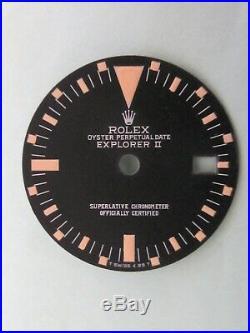 Vintage Rolex #1655 EXPLORER II Matte Black Repaired RAIL Dial