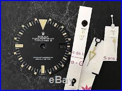 Vintage Rolex 1655 Explorer II Mark I Dial with Hands Set Rare Watch Parts Auth