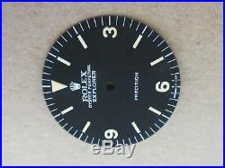 Vintage Rolex #5500 Precision EXPLORER Matte Black Refinished Dial + Hands