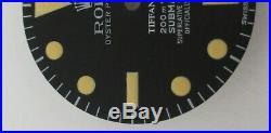 Vintage Rolex #5512 TIFFANY Submariner Matte Black Repaired Dial + Hand-Set