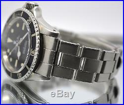 Vintage Rolex 5513 Submariner Untouched Dial & Hands Fat Font Insert 1972