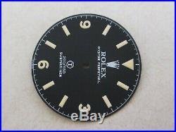 Vintage Rolex #5517 Military Sub Matte Black Repaired Dial + Hand-Set