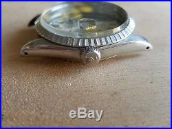 Vintage Rolex Datejust 1603 complete case with Dial, hands, bezel and crown part