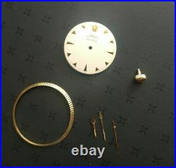 Vintage Rolex Dial, Bezel, Hands, & Crown For Air-king Reference 5501. Parts Only
