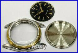 Vintage Rolex Ref 6020 Case, Dial and Hands For Spare Parts