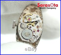 Vintage Rolex Swiss Geneve 17 Rubis Silver Dial Hand Winding Movement/Dial/Crown