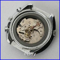 Vintage Sicura Chrono-graphe Head Bezel Dial Hands Case Parts Repairs Spares