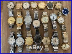 Vintage Timex Mens Watch Lot Hand Wind Auto Mechanical For Parts Repair