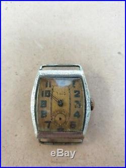Vintage Tudor Watch Hand Winding HANDLEY Case 15 Jewels Swiss for Parts/Repair