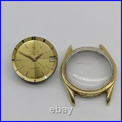 Vintage Universal Geneve POLEROUTER movement 218, dial, hands, case, for parts