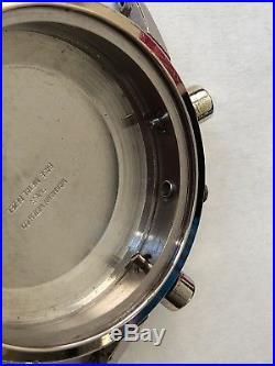 Vintage Wakmann Chronograph Case + Panda Dial + Hands For Parts