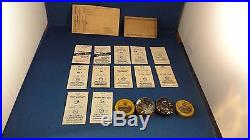 Vintage Watch Parts Mainsprings Second Hands Labeled as Major Brands
