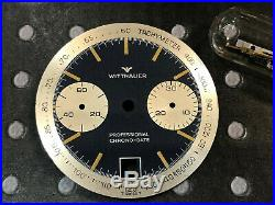 Vintage Wittnauer Professional Chronograph Valjoux 7734 date Dial and hands