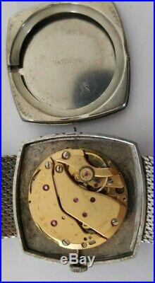 Vintage favre leuba hand winding mens watch for parts / restore