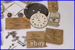 Vintage lot of Clock Lot parts hands Watch Maker Lot Some NOS Parts