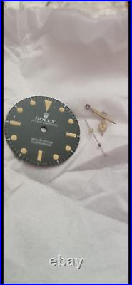 Vintage rolex submariner 5513 wrist watch dial and hands for parts