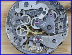 Vtg ARNEX Valjoux 7733 Manual Wind Chronograph Movement Dial Hands GOOD BALANCE