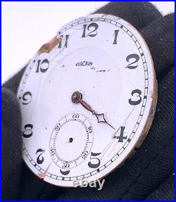 Vulcain 75 Hand Manual Vintage 42,7 mm Doesn'T Works For Parts Pocket Watch