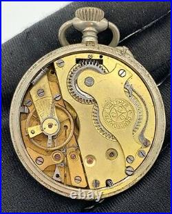 Walther Chronometre Hand Manuale Vintage 44 MM No Lavora For Parts Pocket Watch