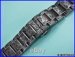 Watch Bracelet Hand Carved Stainless Steel For 18mm watch lugs 22cm length DE152