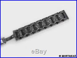 Watch Bracelet Hand Carved Stainless Steel For 18mm watch lugs 22cm length K11