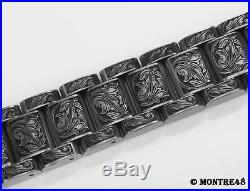 Watch Bracelet Hand Carved Stainless Steel For 18mm watch lugs 22cm length k2