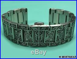 Watch Bracelet Hand Carved Stainless Steel For 20mm watch lugs 22cm length K7