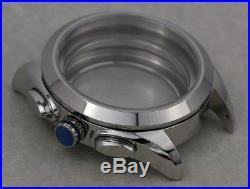 Watch Case + Dial + Hands Set f ETA Valjoux 7750 7753 Chronograph Sapphire 42mm