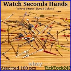 Watch Center Seconds Hands Assortment Of X 100, Spare Parts, Repair, Watchmaker