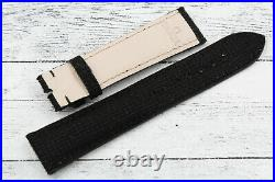Watch Strap OMEGA Black Fabric Lug 20mm New Spare Parts Hand Made Unisex