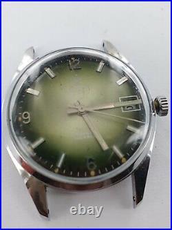 Watex green dial Handaufzug for parts or restore G307