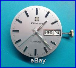 Zenith XL Tronic Esa 9164 Mosaba Movement Dial Hands For Parts