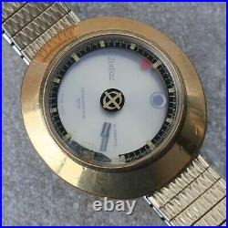 Zodiac Astrographic High Beat UFO Gold Tone Watch Case Dial + Hands Parts