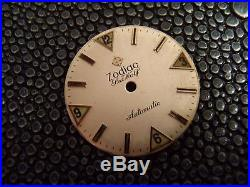 Zodiac Sea Wolf wristwatch parts lot clean dial, case, hands, movement, crown